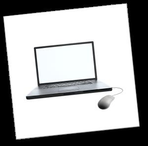 Laptop mit Maus